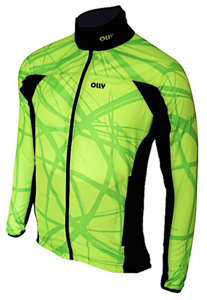 Летняя разминочная куртка OLLY BRIGHT SPORT Lime1